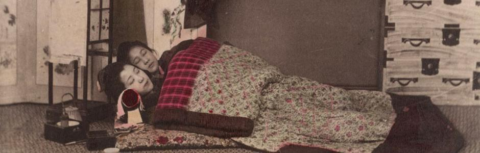 Kusakabe kimbei interno di una camera da letto giapponese for Camere giapponesi